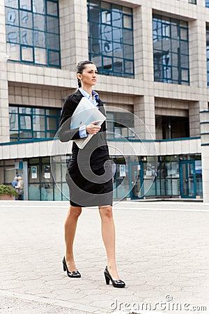 Businesswoman going on work