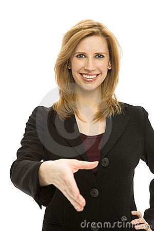 Businesswoman handshake