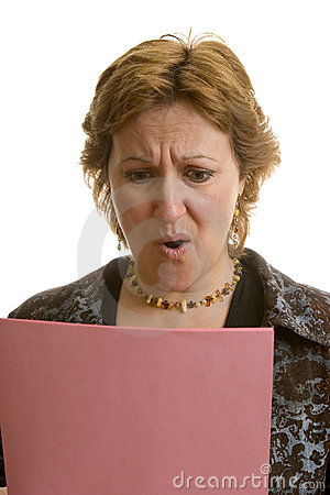 Businesswoman with her layoff notice