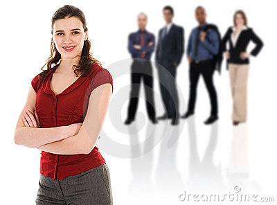 Businesswoman with her Team
