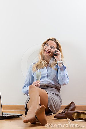 Businesswoman at home