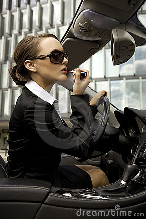Free Businesswoman In A Cabrio Stock Photography - 6552942