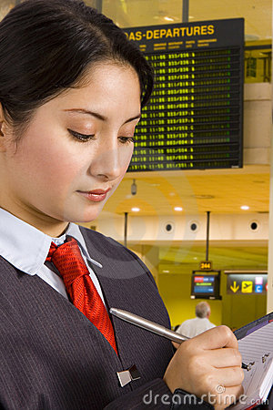Free Businesswoman In Airport Stock Photos - 2952153