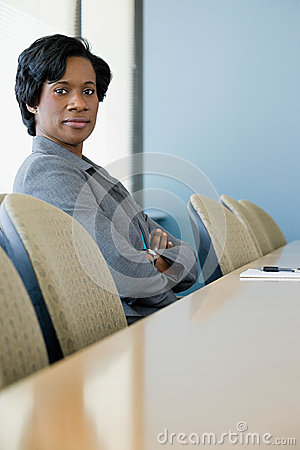 Free Businesswoman In Boardroom Royalty Free Stock Photography - 36095497