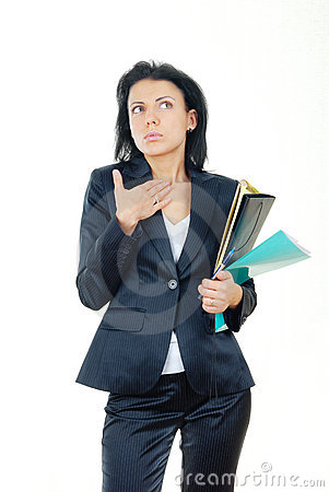 Free Businesswoman In Confusion Stock Photography - 7127332