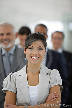Free Businesswoman In Front Of Sales Team Royalty Free Stock Photography - 10363527