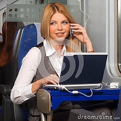Free Businesswoman In Train Stock Photo - 11743860