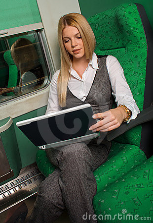 Free Businesswoman In Train Royalty Free Stock Photos - 11743868