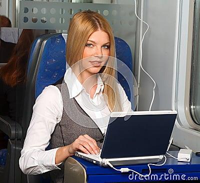 Free Businesswoman In Train Stock Photo - 11743900