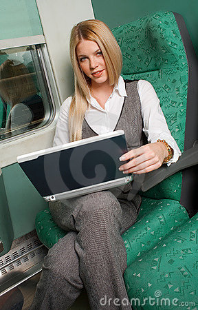 Free Businesswoman In Train Stock Images - 11743974