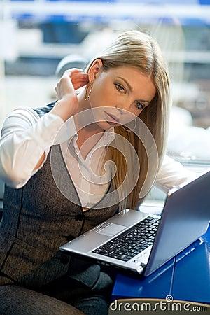 Free Businesswoman In Train Stock Photo - 11743990