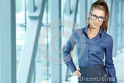 Businesswoman inside a modern house