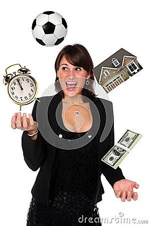 Free Businesswoman Juggling Responsibilities Royalty Free Stock Photo - 7290725