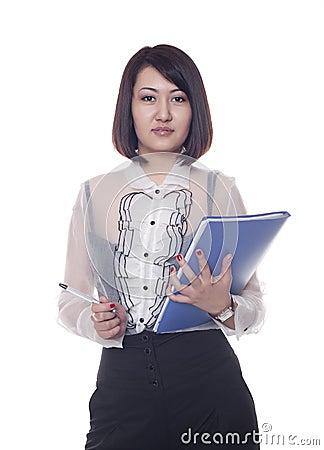 Businesswoman, Kazakh girl