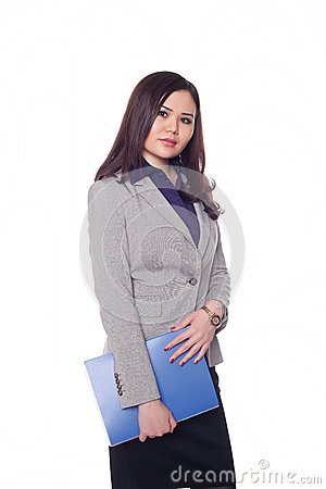 Businesswoman, Kazakh girl