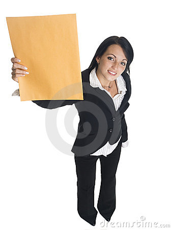 Businesswoman - letter delivery