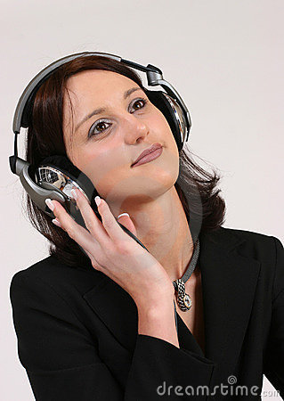 Free Businesswoman Listening To Her Favorite Music Royalty Free Stock Photos - 293138