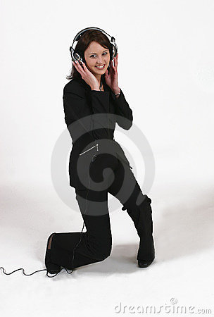 Free Businesswoman Listening To Her Favorite Music Stock Image - 295241
