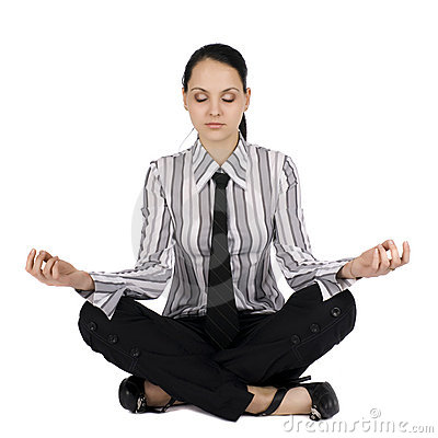 Businesswoman in meditation