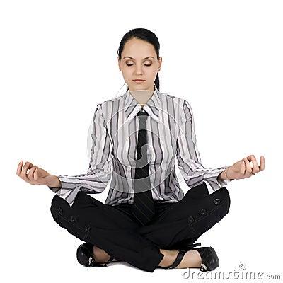 Businesswoman in meditation