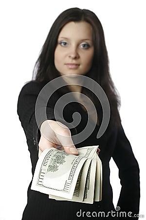 Businesswoman with money 2