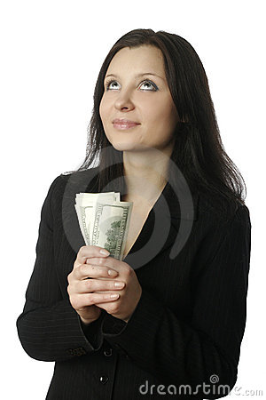 Businesswoman with money 4