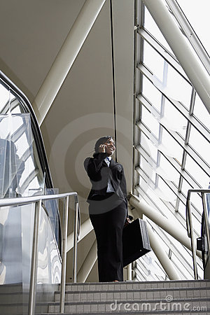 Free Businesswoman On Stairs - Vertical Stock Image - 5183901