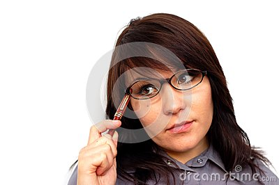Businesswoman with pen #7