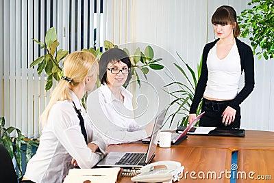 Businesswoman with presentation