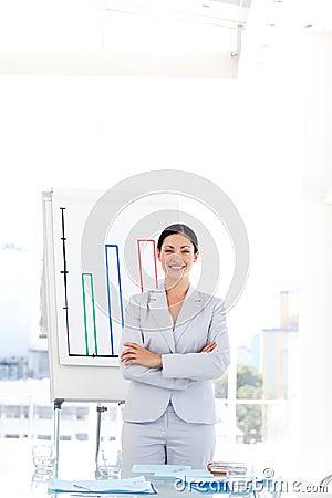 Businesswoman in a presentation