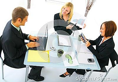 Businesswoman Presenting Sales Figures
