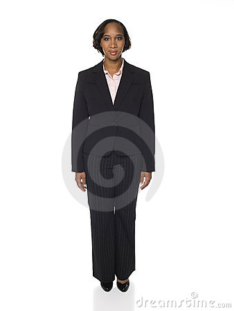 Woman in Business Suit Facing Front