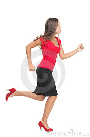 Businesswoman running