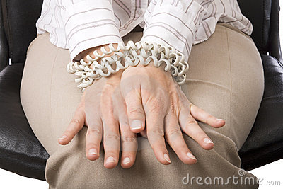 Businesswoman s hands tied