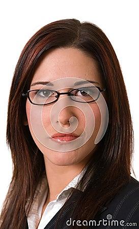 Businesswoman serious headshot