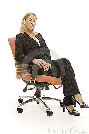Free Businesswoman Sits Relaxing Stock Images - 2386094