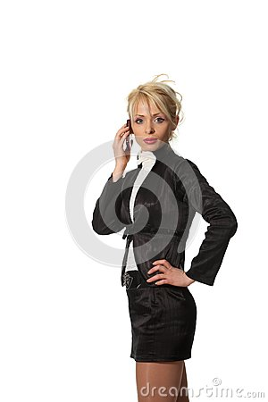 Businesswoman speak phone
