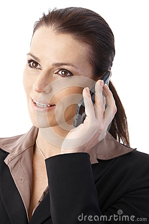 Businesswoman speaking on phone