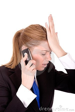 Businesswoman speaking by phone