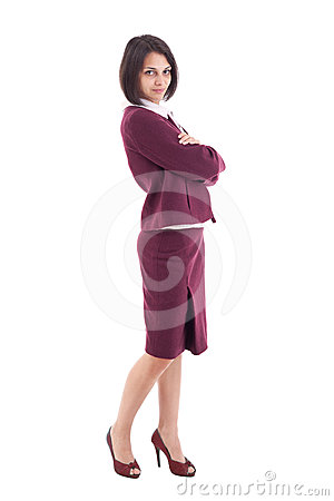 Businesswoman standing arms crossed