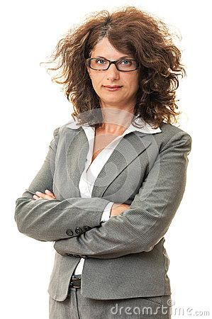 Businesswoman standing with crossed arms