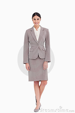 Businesswoman standing with a smile