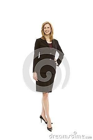 Businesswoman stands