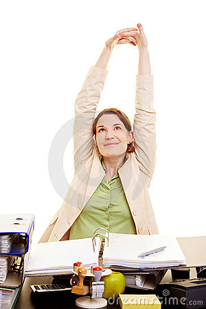 Free Businesswoman Stretching At Her Stock Photos - 15125213