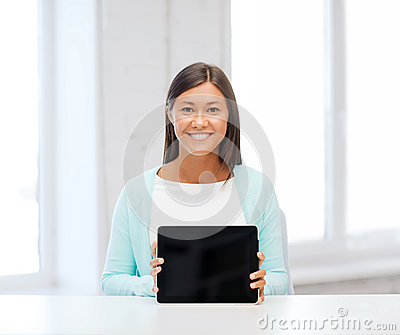 Businesswoman or student with tablet pc