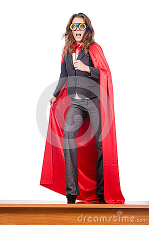 Businesswoman - superwoman concept