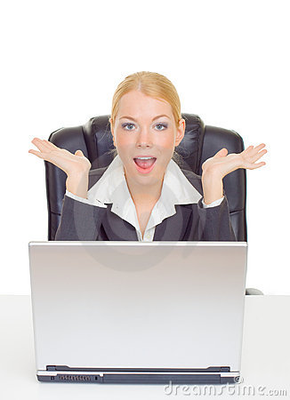 Businesswoman in suprise