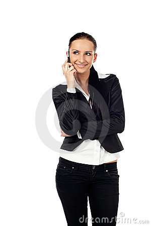 Businesswoman talk on the phone