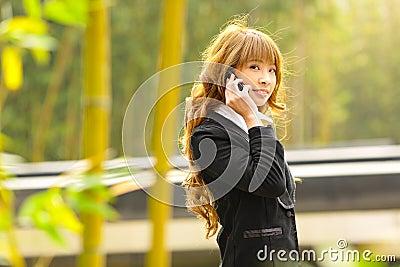 Businesswoman talk phone