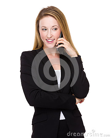 Free Businesswoman Talk To Mobile Phone Stock Photography - 49221912
